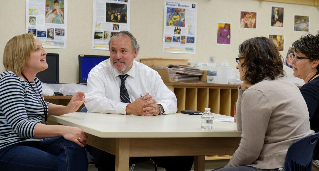 NDU President Nick Archuleta with teachers