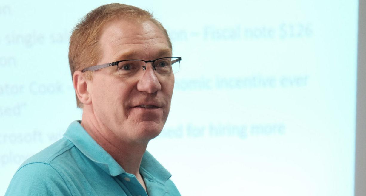 NDU Vice President of Public Employees Gary Fiest