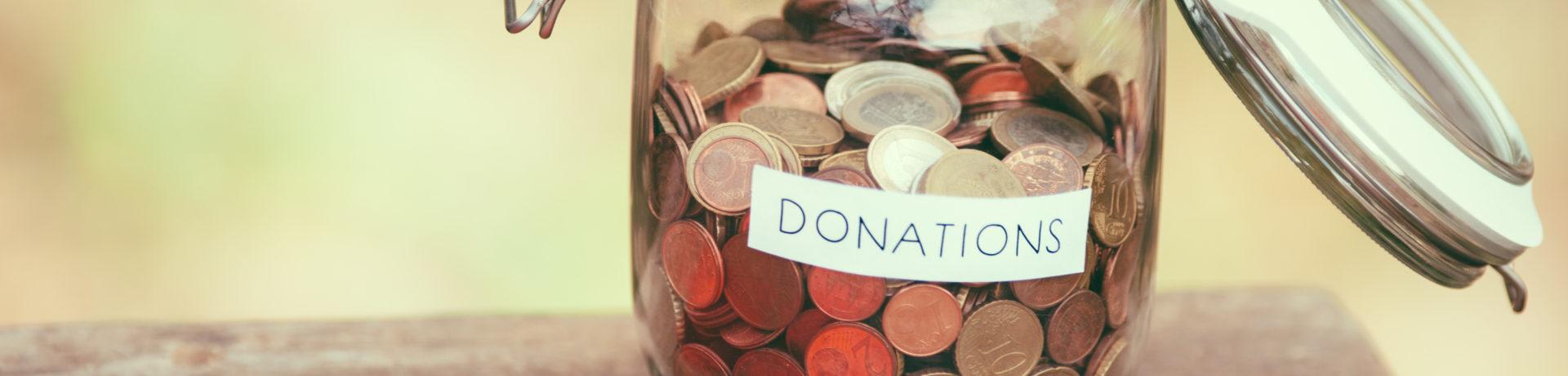 Donations jar