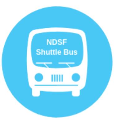 NDSF Shuttle Bus Logo